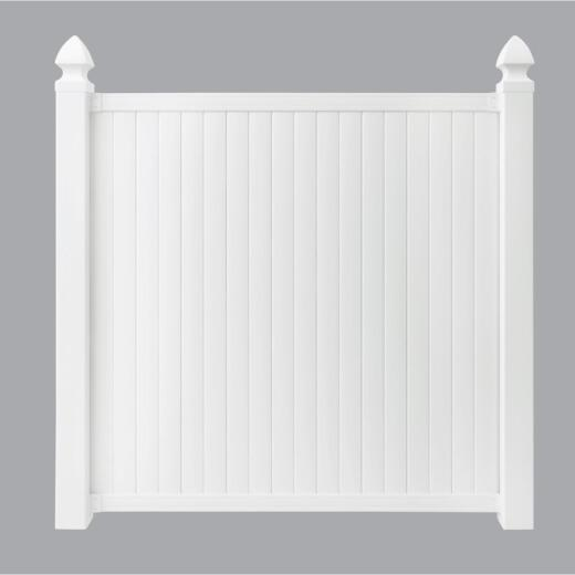 Outdoor Essentials 6 Ft. H. x 6 Ft. L. Standard White Vinyl Privacy Fence