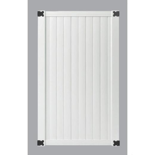 Outdoor Essentials 41-1/2 In. W. x 6 Ft. H. Standard White Vinyl Privacy Gate