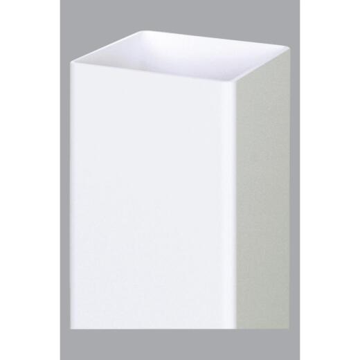 Outdoor Essentials 5 In. x 5 In. x 96 In. White Blank Vinyl Post