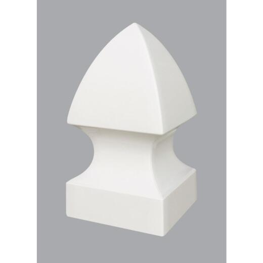 Outdoor Essentials 4 In. x 4 In. White Gothic Vinyl Post Cap