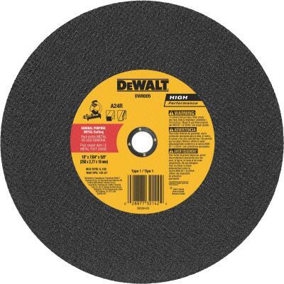 DeWalt HP Type 1 10 In. x 7/64 In. x 5/8 In. Metal Cut-Off Wheel