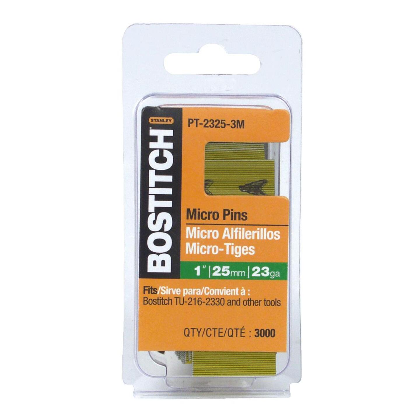 Bostitch 23-Gauge Coated Pin Nail, 1 In. (3000 Ct.) Image 1