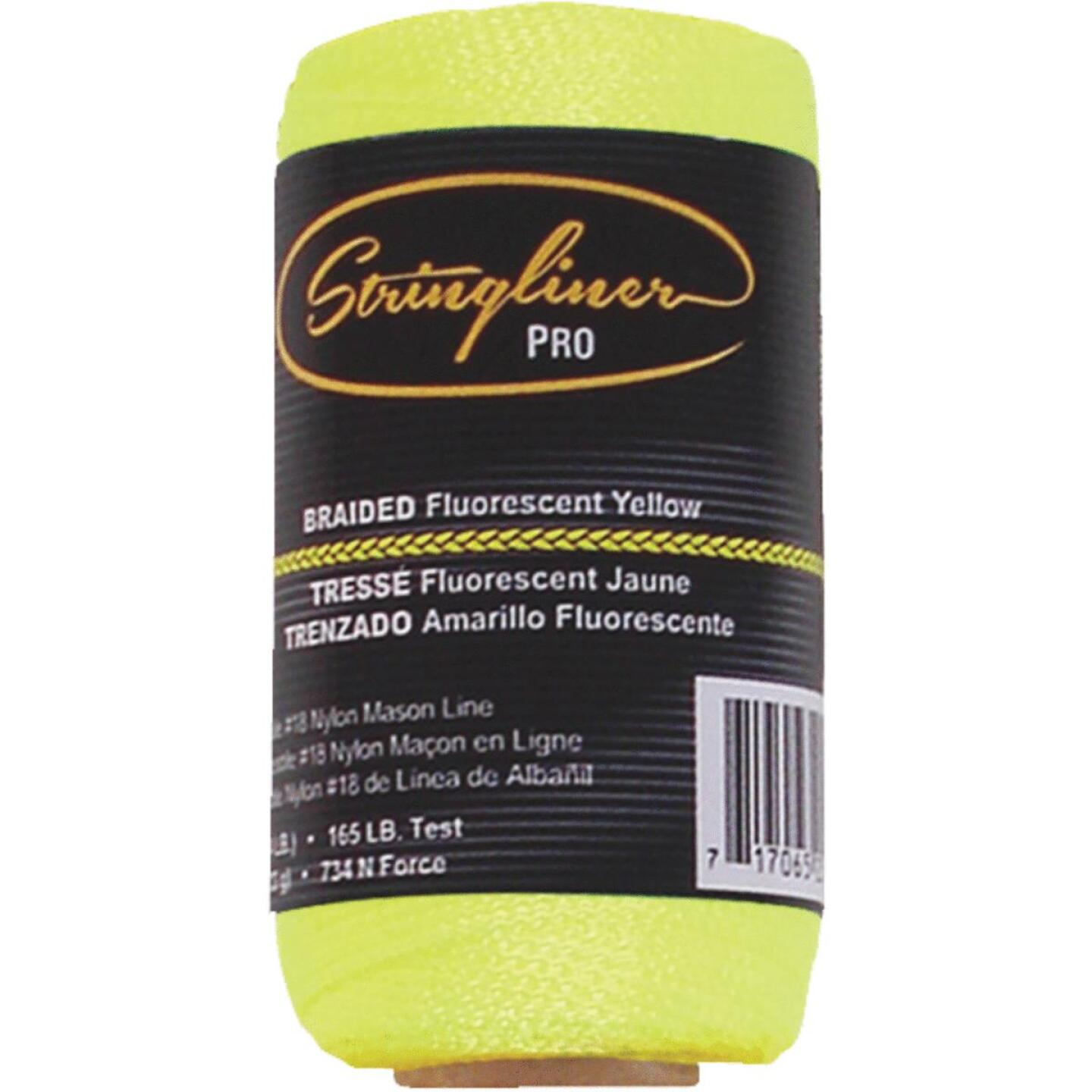 Stringliner 250 Ft. Fluorescent Yellow Braided Nylon Mason Line Image 1