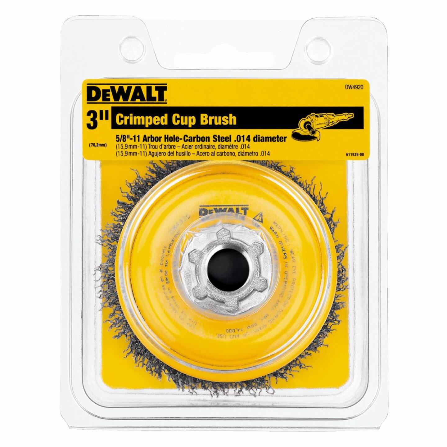 DeWalt 3 In. Crimped 0.014 In. Angle Grinder Wire Brush Image 2