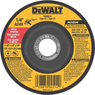 DeWalt HP Type 27, 4-1/2 In. Cut-Off Wheel