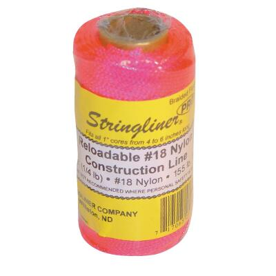 Stringliner 250 Ft. Fluorescent Pink Braided Nylon Mason Line