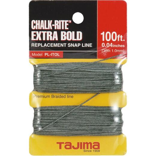 Tajima Chalk-Rite 100 Ft. Braided Nylon Extra Bold Chalk Line