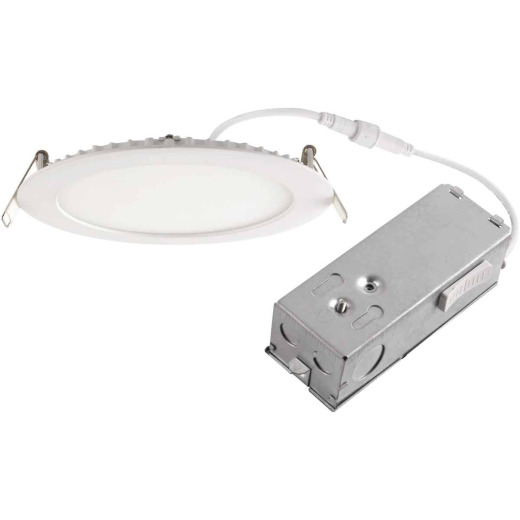 6 In. New Construction IC Rated White Tunable Slim LED CCT Downlight