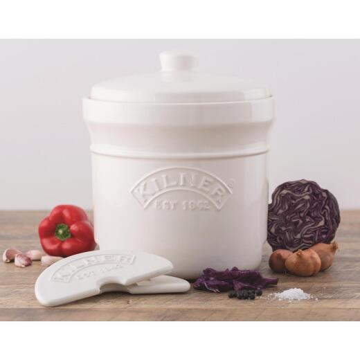 Kilner 1.3 Gal. Ceramic Fermentation Crock Set