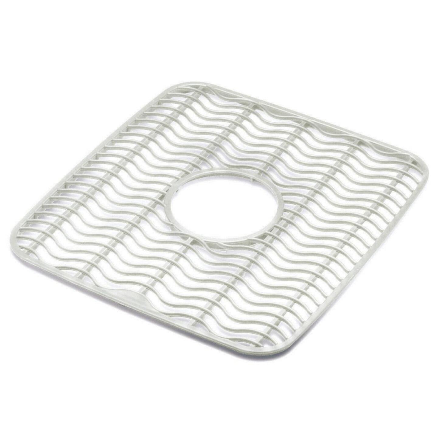 Rubbermaid 11.5 In. x 12.5 In. Clear Twin Sink Mat Protector Image 1