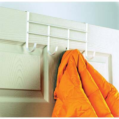 Spectrum Over-The-Door Hook Rail, 4 Hooks on Rail