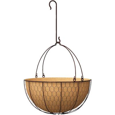 Panacea 14 In. Metal Rust Hanging Plant Basket