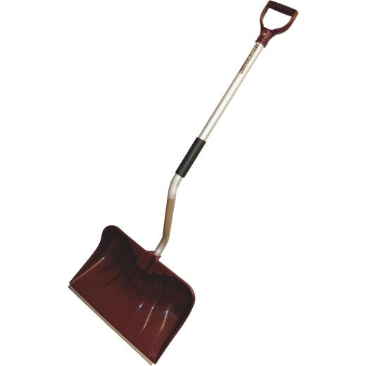 Rugg Back-Saver Lite-Wate 20 In. Poly Snow Shovel & Pusher with 42 In. Aluminum Handle