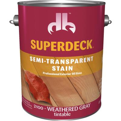 Duckback SUPERDECK Semi-Transparent Exterior Stain, Weathered Gray, 1 Gal.