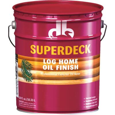 Duckback SUPERDECK Translucent Log Home Oil Finish, Golden Honey, 5 Gal.