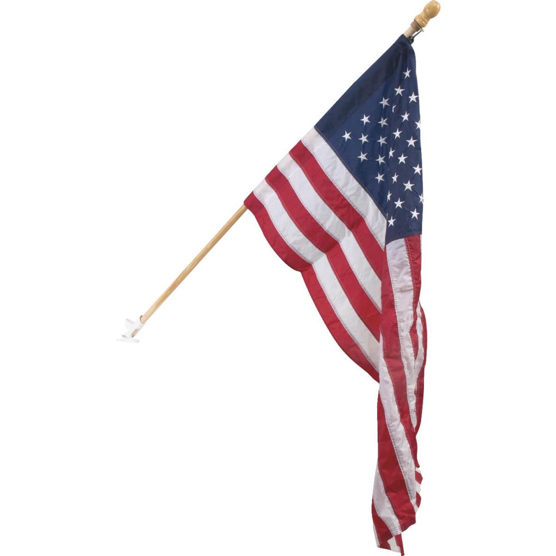 Valley Forge 2.5 Ft. x 4 Ft. Nylon American Flag & 5 Ft. Pole Kit Image 1